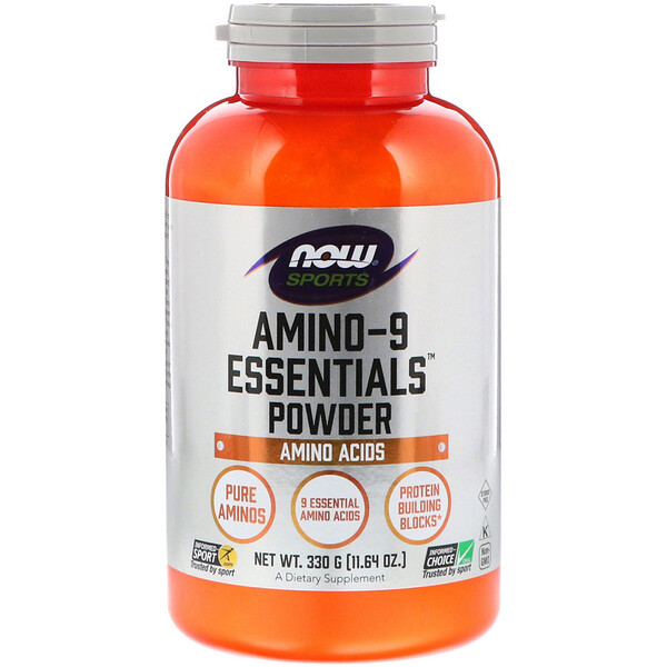 Now Foods, Sports, порошок Amino-9 Essentials, 11,64 унции (330 г)
