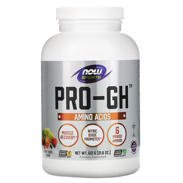 Now Foods, Sports, Pro-GH, Fruit Punch, 21.6 oz (612 g)