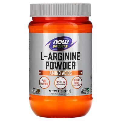 Now Foods Sports, L-Arginine Powder, 1 фунт (454 г)