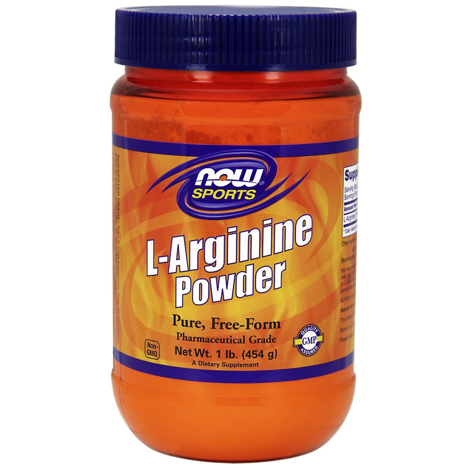 Now Foods, Sports, L-Arginine Powder, 1 lb (454 g) - iHerb.com