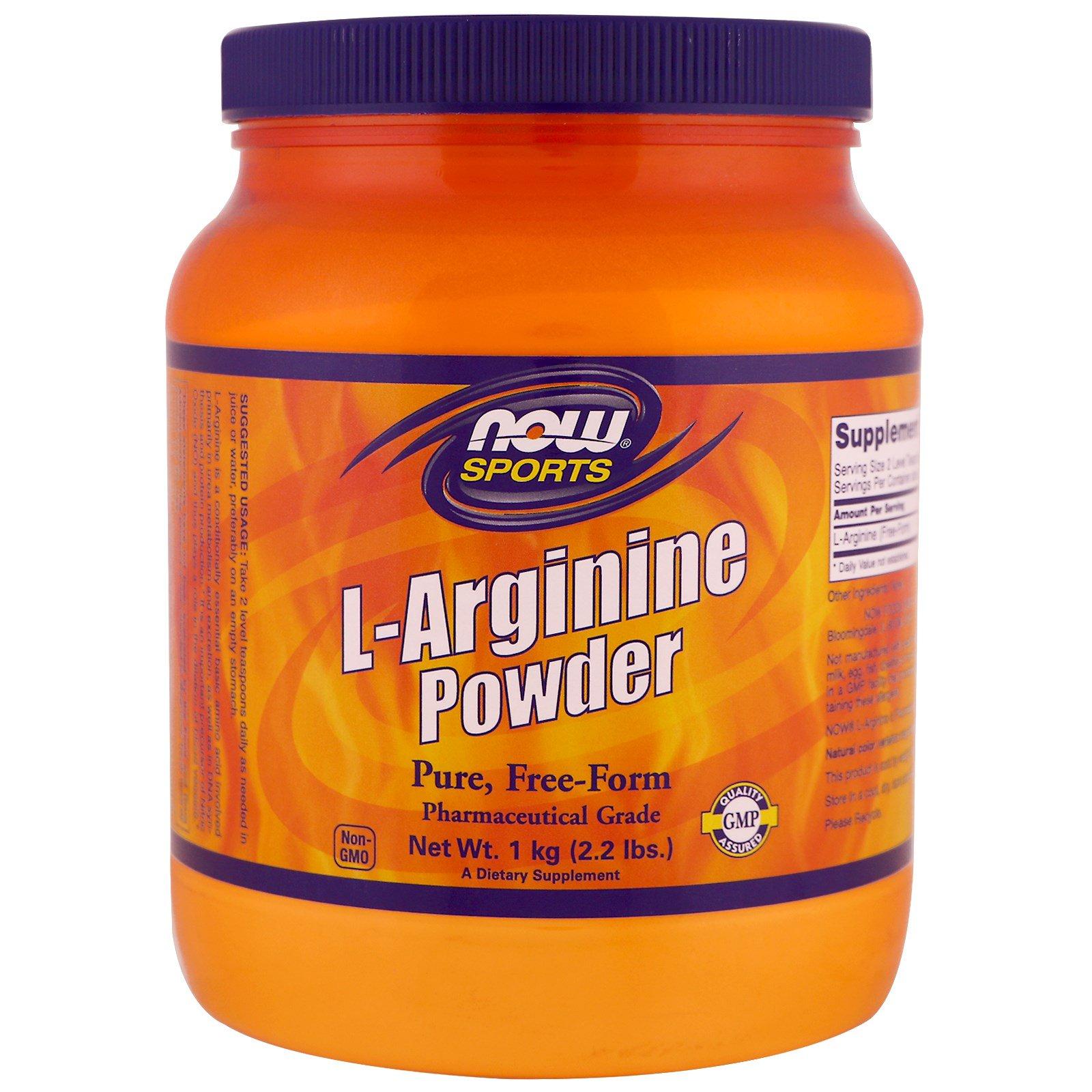 Now Foods, Sports, L-Arginine Powder, 1 kg (2 2 lbs) - iHerb com