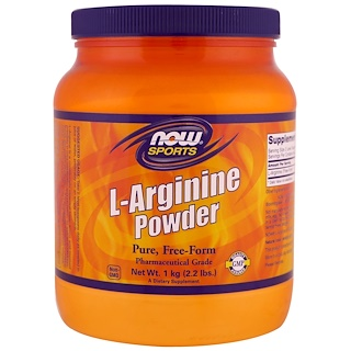 Now Foods, Sports, L-Arginine Powder, 1 kg (2.2 lbs)
