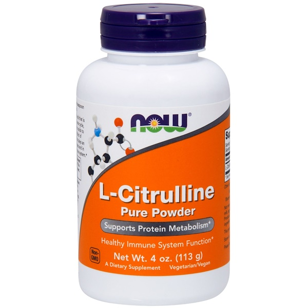 Now Foods, L-Citrulina, Polvo Puro, 4 oz (113 g)