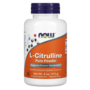 Now Foods, L-Citrulline, Pure Powder, 4 oz (113 g) отзывы покупателей