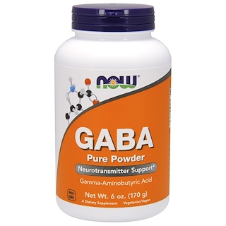 Now Foods, GABA, Polvo Puro, 6 oz (170 g)