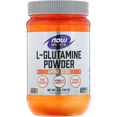 Купить Спорт, L-глютамин в виде порошка, 454г (1фунт)