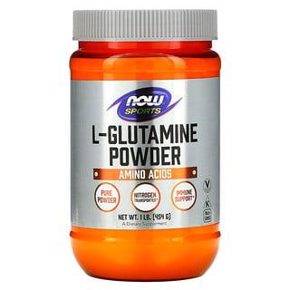 Now Foods, Deportes, L-glutamina en polvo, 454g (1lb)