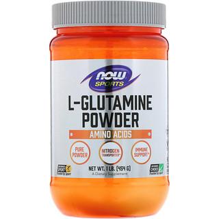 Now Foods, Esportivo, L-Glutamina em Pó, 1 lbs (454 g)