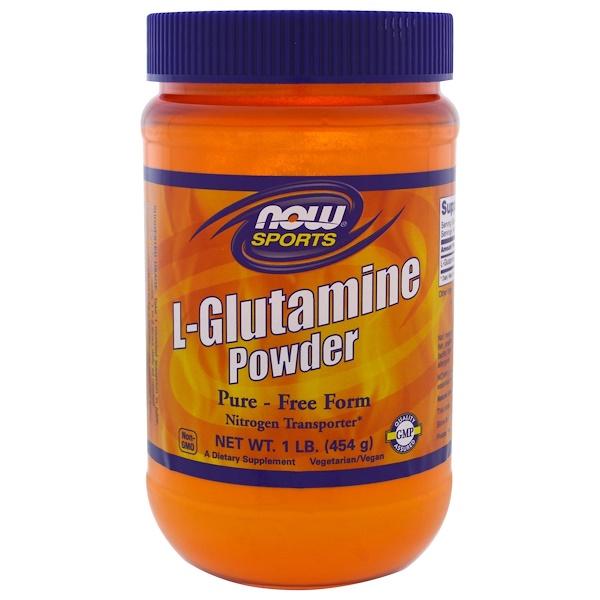 Now Foods, L-Glutamine  Powder, 1 lbs (454 g)
