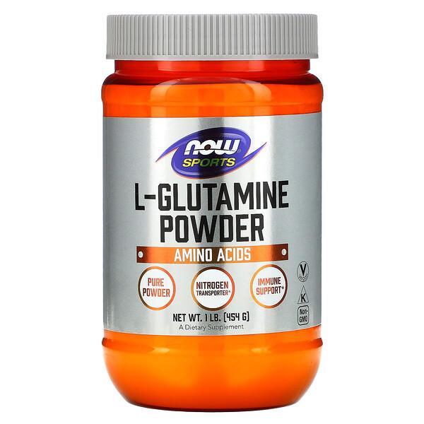 Now Foods, Sports, L-Glutamine Powder, 1 lbs (454 g)