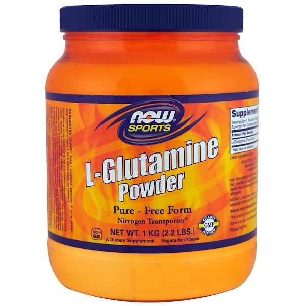 Now Foods, Sports,左旋谷酰胺粉,2、2磅(1公斤)