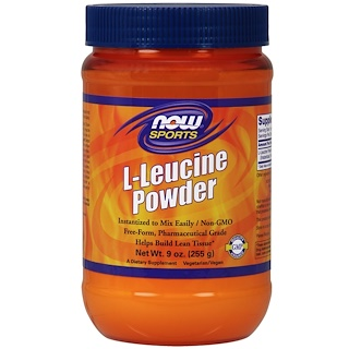 Now Foods, L-Leucine Powder, 9oz