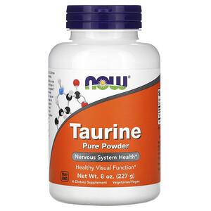 Now Foods, Taurine Pure Powder, 8 oz (227 g) отзывы