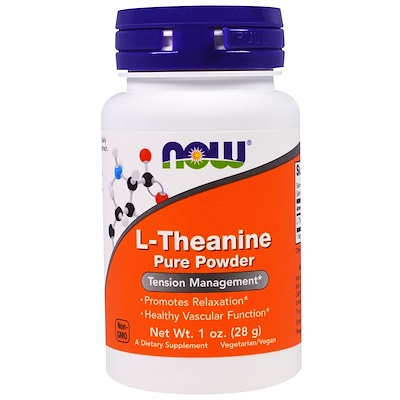 L-Theanine Pure Powder, 1 oz (28 g) sports aakg pure powder 7 oz 198 g