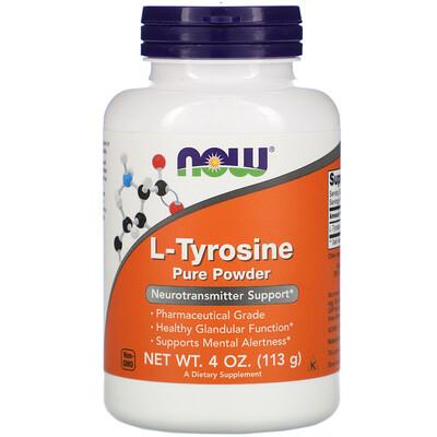 Купить Now Foods L-тирозин, чистый порошок, 113 г (4 унции)