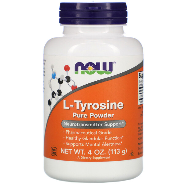 Now Foods, L-Tyrosine Pure Powder, 4 oz (113 g)