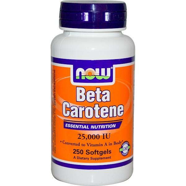 Now Foods, Beta Carotene, 25,000 IU, 250 Softgels (Discontinued Item)