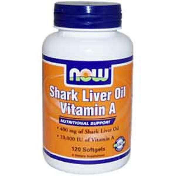 Now Foods, Shark Liver Oil Vitamin A, 120 Softgels (Discontinued Item)