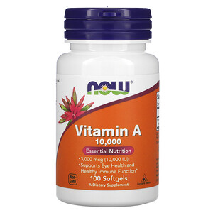 Now Foods, Vitamin A, 10,000 IU, 100 Softgels отзывы