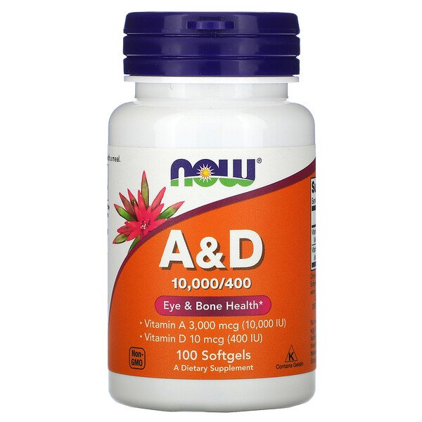 Now Foods, A&D, Essential Nutrition, 10,000 / 400 IU, 100 Softgels
