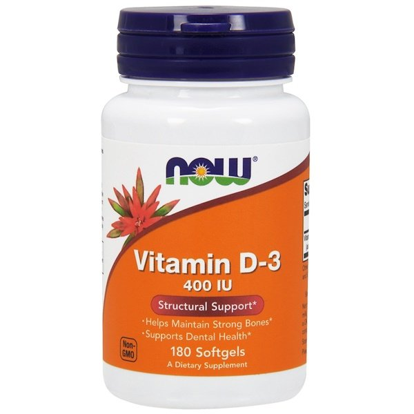Vitamin D-3, 400 IU, 180 Softgels