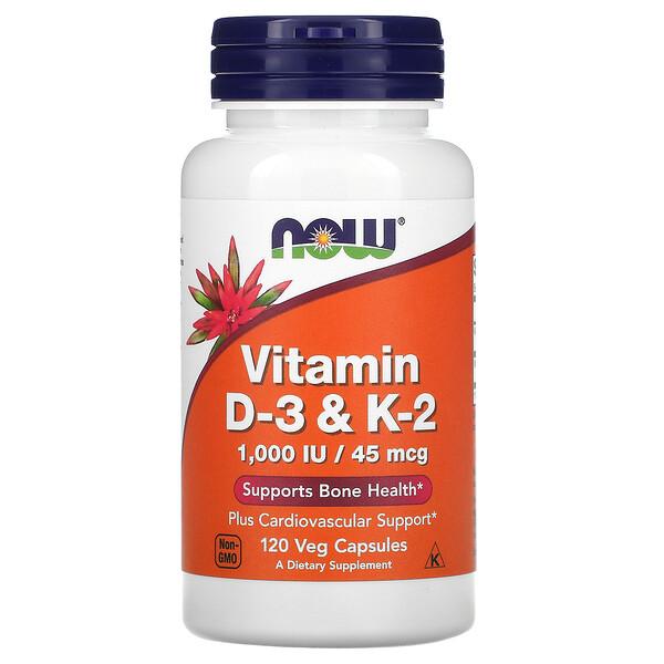 витамины D3 и K2, 120растительных капсул