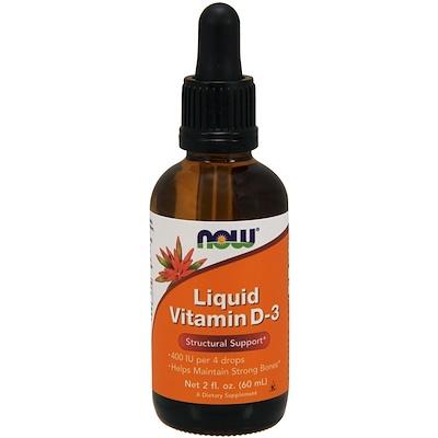Купить Жидкий витамин D-3, 2 жидких унции (60 мл)