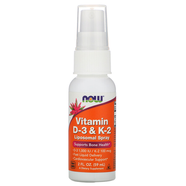 Vitamin D-3 & K-2, Liposomal Spray, 2 fl oz (59 ml)