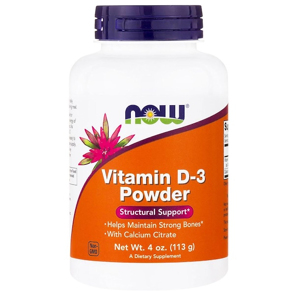 Now Foods, Vitamin D-3 Powder, 4 oz (113 g) (Discontinued Item)