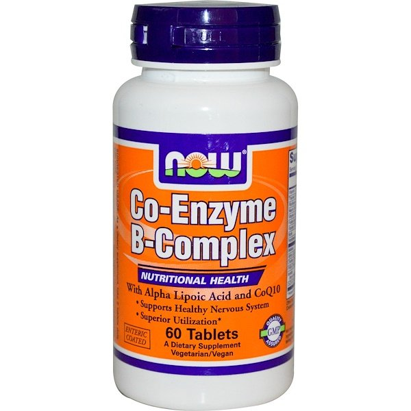 Now Foods, Co-Enzyme B-Complex, 60 Tablets (Discontinued Item)