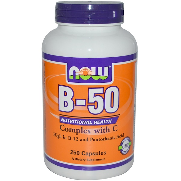 Now Foods, B-50, Complex with C, 250 Capsules (Discontinued Item)