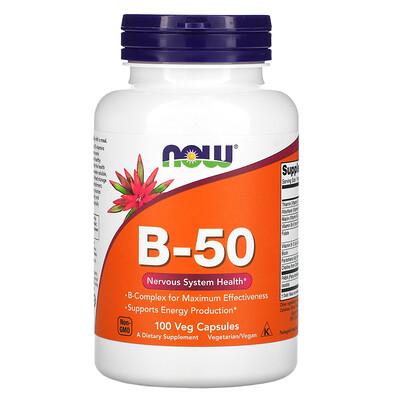 Купить Now Foods B-50, 100растительных капсул