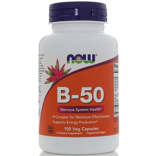 Now Foods, B-50, 100 Veg Capsules