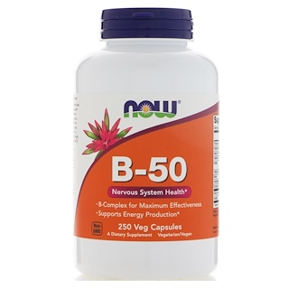 Now Foods, B-50, 250 Veg Capsules