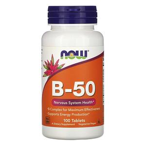 Now Foods, B-50, 100 Tablets отзывы