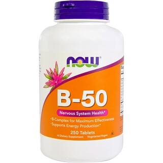 Now Foods, B-50, 250錠
