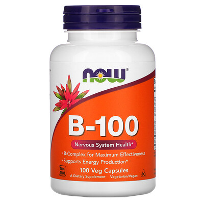 Купить Now Foods B-100, 100растительных капсул