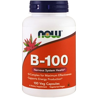 Now Foods, B-100, 100 Veg Capsules