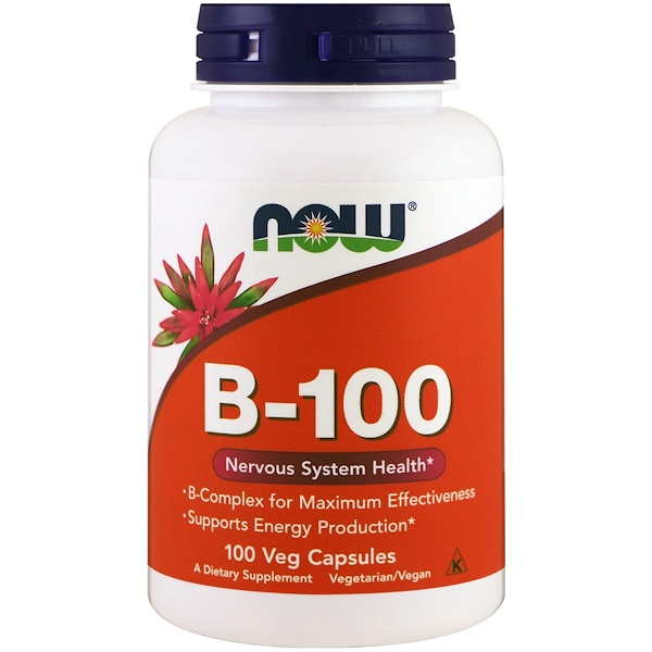Now Foods, B-100, 100 cápsulas vegetales