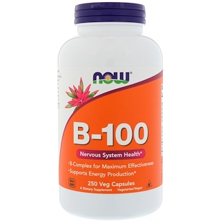 Now Foods, B-100, 250 Veg Capsules