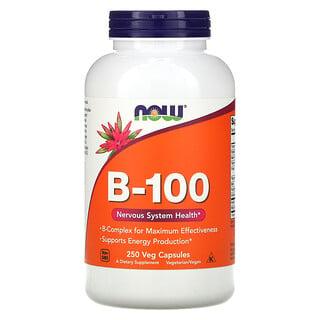 Now Foods, B-100, 250 Veg Capsules
