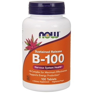 Now Foods, B-100, Sustained Release, 100 Tablets
