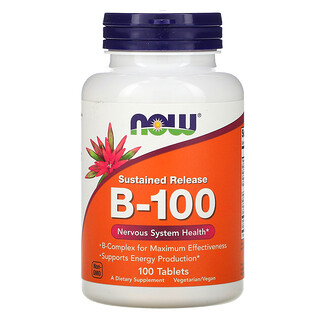 Now Foods, Sustained Release B-100, 100 Tablets