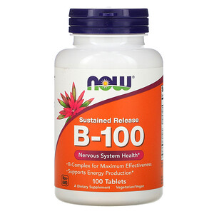 Now Foods, B-100, Sustained Release, 100 Tablets отзывы покупателей