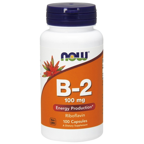 Now Foods, B-2, 100 mg, 100 Capsules