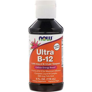 Now Foods, Ultra B-12, 5,000 mcg, 4 fl oz (118 ml)