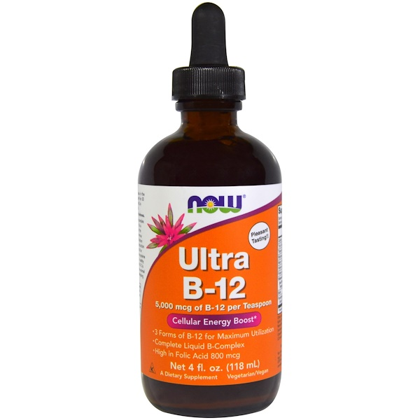 Now Foods, Ultra B-12, 5,000 mcg, 4 fl oz (118 ml)