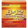 Now Foods, Shots, B-12, Mixed Berry , 10,000 mcg, 12 Shots, 0.5 fl oz (15 ml) Each