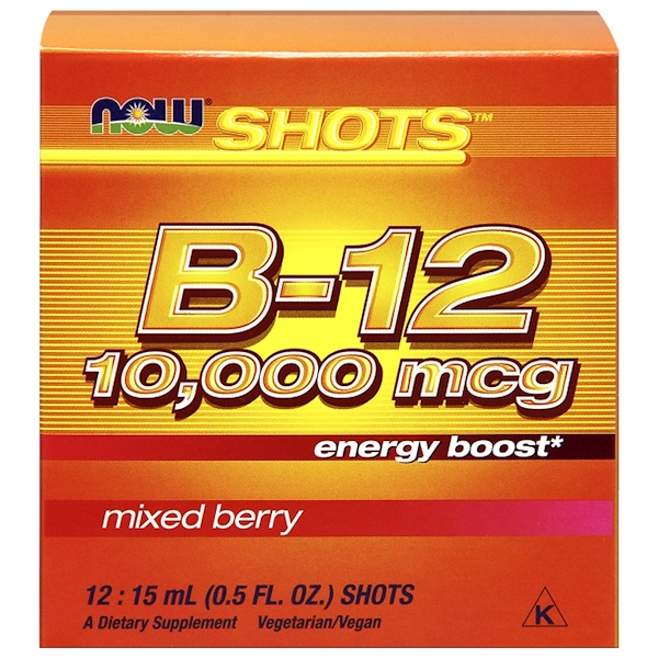 Shots, B-12, Mixed Berry , 10,000 mcg, 12 Shots, 0.5 fl oz (15 ml) Each