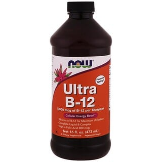 Now Foods, Ultra B-12, 5,000 mcg, 16 fl oz (473 ml)